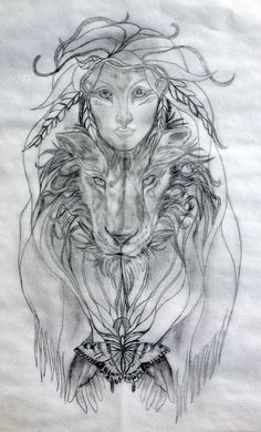 native american female tattoos | Shape-Shifting Sacred Tattoo Design: A Shaman's Magickal Journey of ...