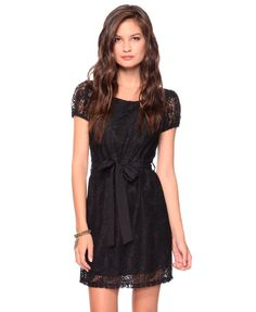Belted Lace Dress   FOREVER21