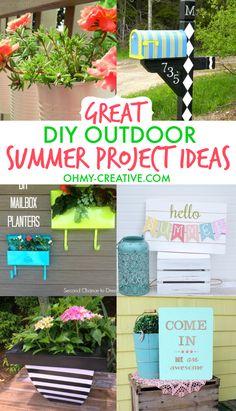 Great DIY Outdoor Summer Project Ideas     OHMY-CREATIVE.COM