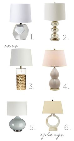 On the Hunt: Table Lamps