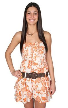 smocked tiered #strapless belted day #dress $32.50
