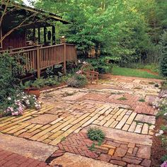 Cool reuse of variety of bricks!