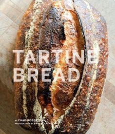 """Tartine Bread. Like the """"Beard"""" book, love the full-bleed pictures, lightly frosted cover, strong font. Very clean. Powerful."""
