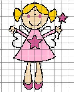 Pink Fairy Crochet Chart/Graph Pattern