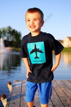 Heat Transfer shirt using Silhouette CAMEO #boy #craft