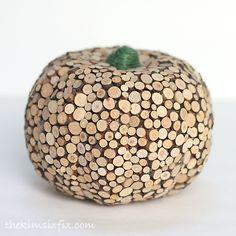 Wood Slice Pumpkin