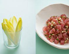 Tuna Tartare w/ Belgian Endive Leaves http://spoonforkbacon.com/2012 ...