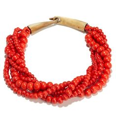 BAJALIA Red Beaded Necklace