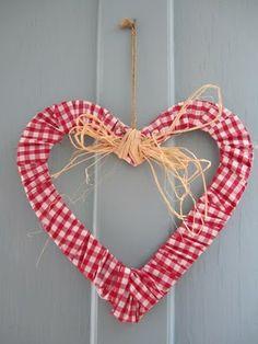 Gingham heart.