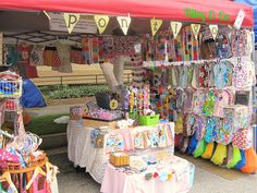 organic cotton, craft booth table display, street fair, craft fair booths, craft booth displays