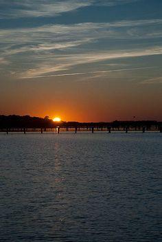 Folly Beach sunset.