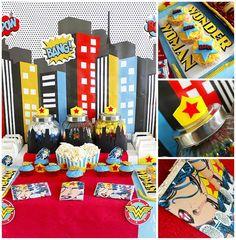 Wonder Woman Party with So Many Awesome Ideas via Kara's Party Ideas | KarasPartyIdeas.com #Superhero #Party #Ideas #Supplies (1)