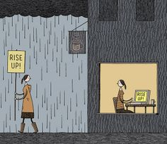 Rise Up! by Tom Gauld.