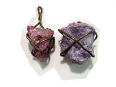 stone and wire wraparound necklace