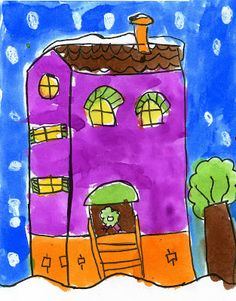 Art Projects for Kids: Ruby's Victorian Winter House