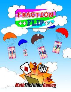 Fraction Flip: Adding, Subtracting, Multiplying & Dividing Fractions Game http://www.mathfilefoldergames.com/fraction-flip-adding-subtracting-multiplying-dividing-fractions-game/ #Fractions #MathGame
