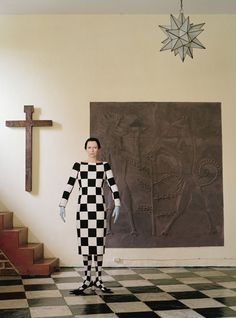 Tilda the fashionista jester.  W Magazine, May, 2013.