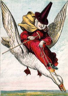 Vintage Mother Goose Illustration