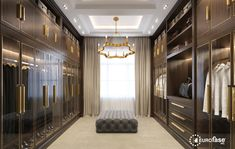 Designing your dream walk-in closet? Add the Leyton chandelier for a dramatic elegant feel for that custom look. #interior #design #lighting #decor #chandelier #modern #contemporary #transitional #closet #custom #luxury