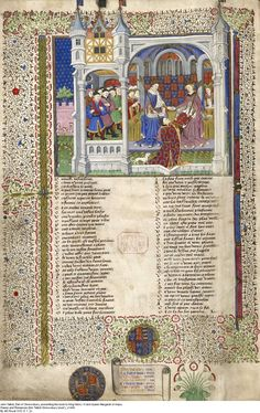 Margaret of Anjou (c.1429-82) was the daughter of Rene of Anjou & Isabella of Lorraine. Because of her vast inheritance, Margaret was a much sought-after bride. In 1444 she wed Henry VI of England by proxy. In 1445 she wed him in person aged 15. In 1453 her only child, Edward was born while her husband simultaneously suffered his 1st mental collapse. Margaret took over the government & got Henry to dissolve Parliament. She raised an army to overcome those who were threatening her power.