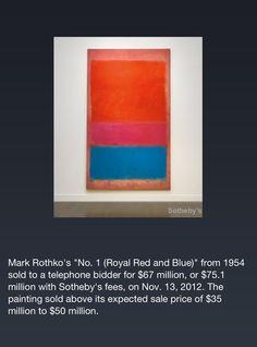 Mark Rothko $75,100,000.00