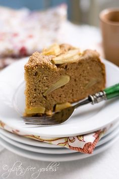 Gluten free Goddess apple cake recipe made with coconut flour