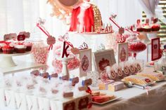 Pink Princess themed birthday party with Such Darling Ideas via Kara's Party Ideas! Full of decorating ideas, favors, games, cakes, printables, and MORE! KarasPartyIdeas.com #princessparty #pinkprincess #partyideas #partydecor #partystyling #eventplanning #partydesign (5)