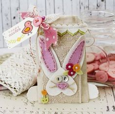 Cotton Bunny Bag by Melissa Phillips for Papertrey Ink (February 2014)