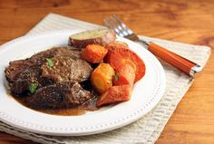 Slow cooker pot roast with gravy (The Perfect Pantry).