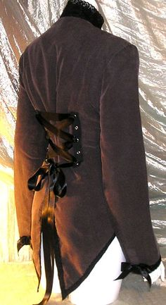 Victorian Corset Jacket Tux Tail Coat Steampunk Goth Lolita Cosplay Tuxedo Whitby DIY 14/16. $49.99, via Etsy.