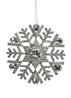 Add a little sparkle to your Christmas tree this holiday with the Rebecca Crystal Snowflake Ornament that boasts dozens of dazzling crystals in a variety of shapes and sizes.