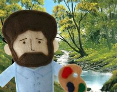 Why, yes, that IS a Bob Ross finger puppet!