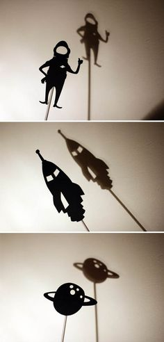 moon shadow puppets  cut shadow puppets with a cricuit