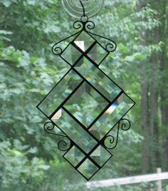 Stained Glass Suncatcher Clear Bevels Wire by CartersStainedGlass, $20.00