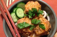 These Asian-inspired meatballs are a nice departure from their Italian cousins.