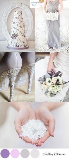 Winter Wedding Palette: Shades of Lavender wedding palette, color palettes, wedding ideas, lavender weddings, wedding colors, shade, shoe, winter weddings, bride groom