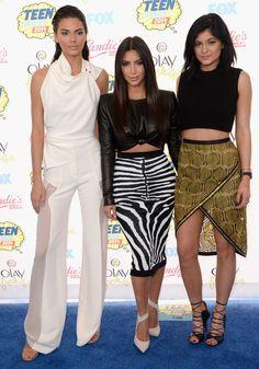 Kim Kardashian, Kendall Jenner, and Kylie Jenner at the Teen Choice Awards