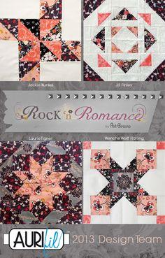 Aurifil Block of the Month with Rock n Romance, from Soulful Eyes blog #rocknromance #patbravo #patbravofabrics #quiltblock