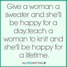 Share your gift - teach someone to knit!