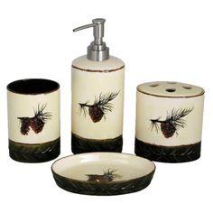 Pine Cone Bathroom Set - Bed & Bath Decor - Bed & Bath