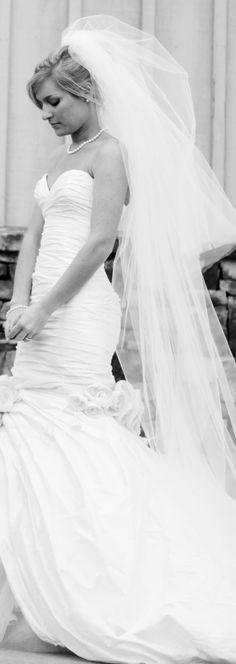 Chapel Wedding Veil with Blusher