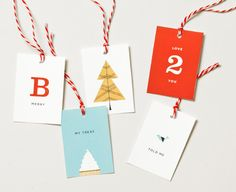 Holiday Gift Tags by Danielle Kroll, via Behance