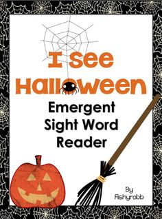 """FREE LANGUAGE ARTS LESSON - """"Halloween Emergent Reader - Sight Words I, See, The"""" - Go to The Best of Teacher Entrepreneurs for this and hundreds of free lessons.   #FreeLesson  #LanguageArts  #Halloween  http://www.thebestofteacherentrepreneurs.net/2013/10/free-language-arts-lesson-halloween_25.html"""