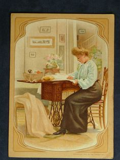 Singer Sewing Machine No 27 Victorian Trade Card