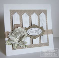 Stampin' Up! Card  by Rae Harper at Wild West Paper Arts: White Picket Fence