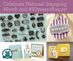 The #30yearsofhappy stamp set can be yours FREE in the month of September with a qualifying purchase. Help us celebrate 30 years in the stamping business!
