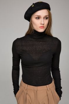 High neck jumper - FrontRowShop