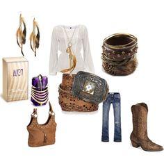 Cowgirl, created by joyce-sman-breumelhof.polyvore.com