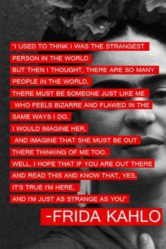 just as strange...