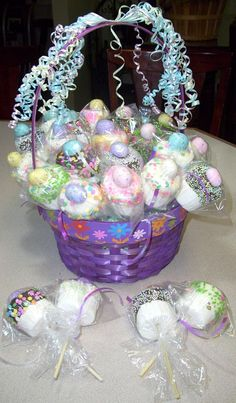 jumbo marshmallows dipped in chocolate and candies. I always bring something special for the kids.